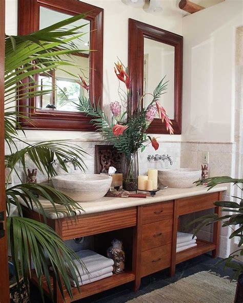 tropical bathroom sets 42 amazing tropical bathroom d 233 cor ideas digsdigs