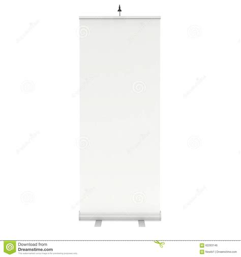 blank roll up banner stand stock illustration image of