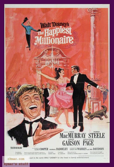 what disney film is garson on the happiest millionaire musicals movies and broadway