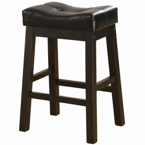 24 inch backless bar stools 2 brown cherry backless counter height stools by coaster