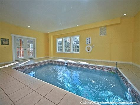 Large Cottages With Indoor Pool by Big Plunge Cabin With Pool By Pigeon Forge