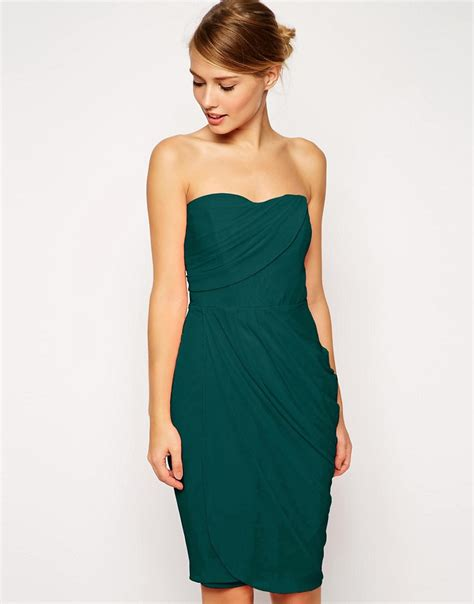 Draped Midi Dress asos asos sheer drape midi dress at asos