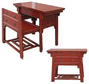 Laundry Room Cabinet Ideas - chinese desk with hidden stool red asian desks and hutches