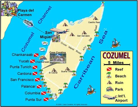 map mexico west coast best cozumel clubs on west side of island and