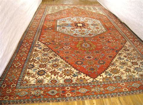 mansion rugs antique serapi rug mansion size soft blue centre circa 1880 for sale at 1stdibs