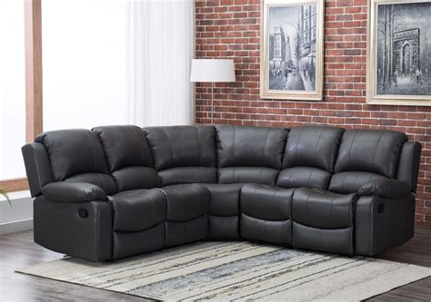 Leather Corner Recliner Sofas Camford Grey Leather Corner Manual Recliner Sofa High Quality Cheap Sofas At Cheap Sofas