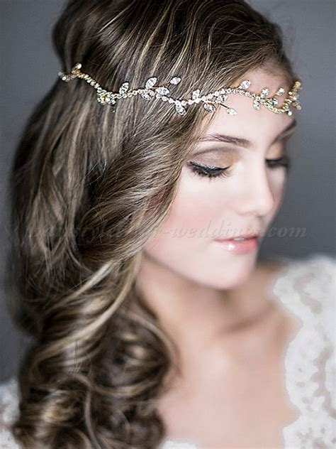 Vintage Wedding Hair Up by Bridal Headbands Bridal Forehead Band Hairstyles For