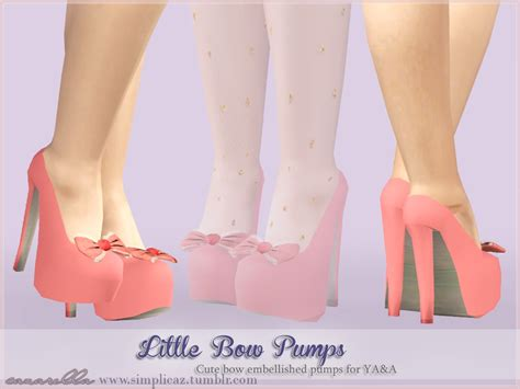 by simplicaz tags boots shoes flats female sims3 dashakirilova sims3 my sims 3 blog little bow pumps by simplicaz