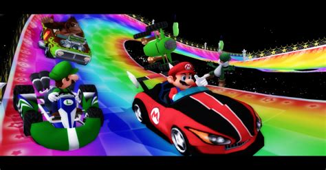 Rainbow Road rainbow road recreated in mario 64 nerdburglars gaming