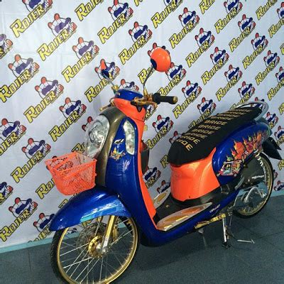 Keranjang Thailook finna rz modifikasi honda scoopy racing look style