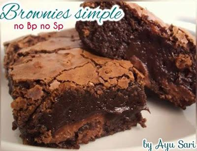 cara membuat brownies kukus enak dan empuk cara membuat brownies panggang simple no bp no sp resep