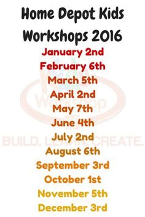 lowes build and grow workshop schedule january 2017 the