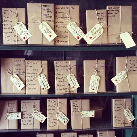 three blind dates books bookshop s creative project lets you go on a blind