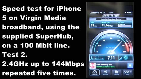 media broadband and superhub wireless wifi speed test with iphone 5 using speedtest net