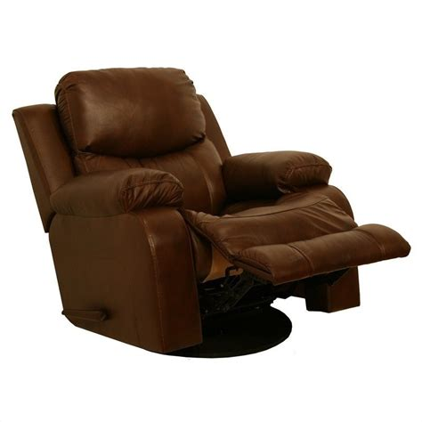 catnapper power recliners catnapper dallas leather power glider recliner in tobacco