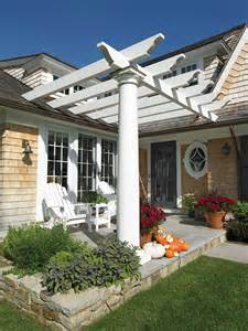 House With Pergola by Pergolas Landscaped Vignettes