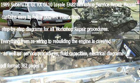 service manual problems removing a 1988 subaru leone motor service manual remove windshield subaru leone loyale ea82 service repair manual download download