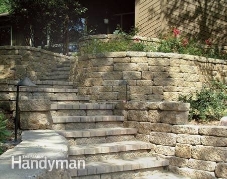 how to choose the right retaining wall material the family handyman