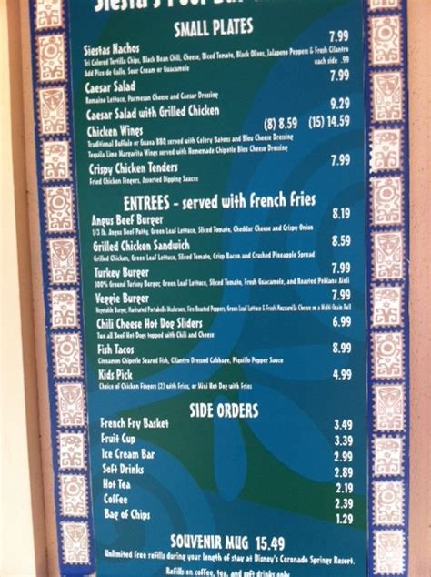 hotel coronado room service menu review disney s coronado springs resort the walt disney world manual