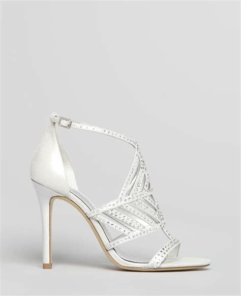 guess high heel sandals guess sandals hilonas rhine high heel in silver argento