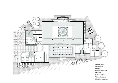 floor plan of a mosque abdul rahman siddique mosque palm jumeirah plan archnet