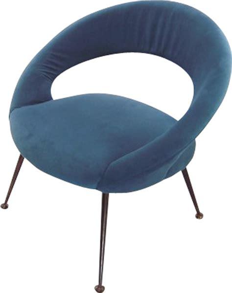 fauteuil rond velours fauteuil rond en velours bleu 1960 design market