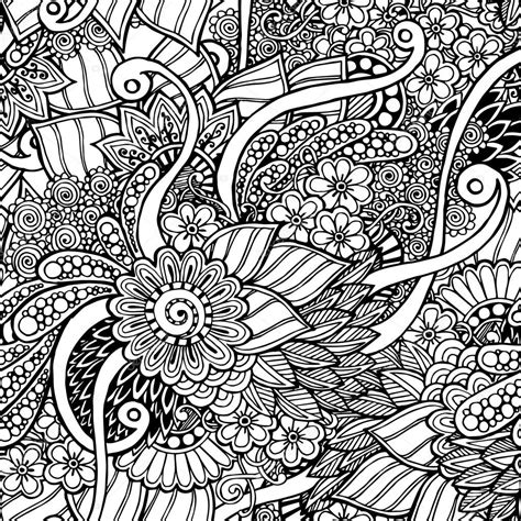 doodle pattern black and white seamless floral retro doodle black and white background