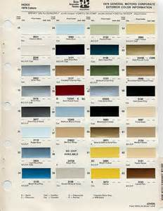 gm color gm color chips color chip selection auto paint colors