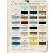 GM Color Chips  Chip Selection Cadillac Colors Sets