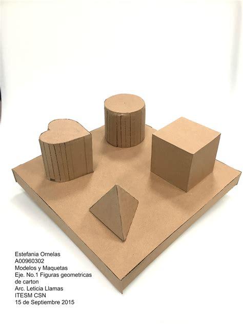 figuras geometricas hechas con material reciclable modelos y maquetas on behance