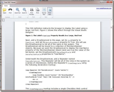 Word Document Viewer