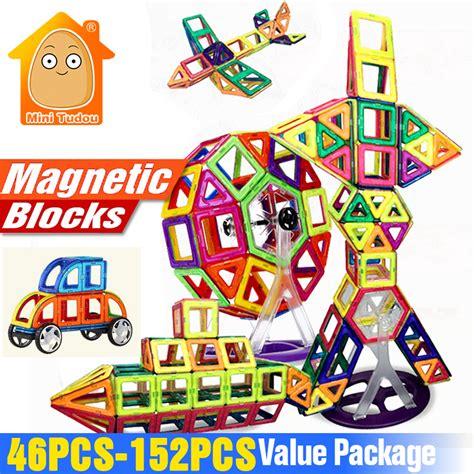 Blocks 46pcs 868 15 minitudou 152 46pcs magnet toys building blocks magnetic construction set designer diy