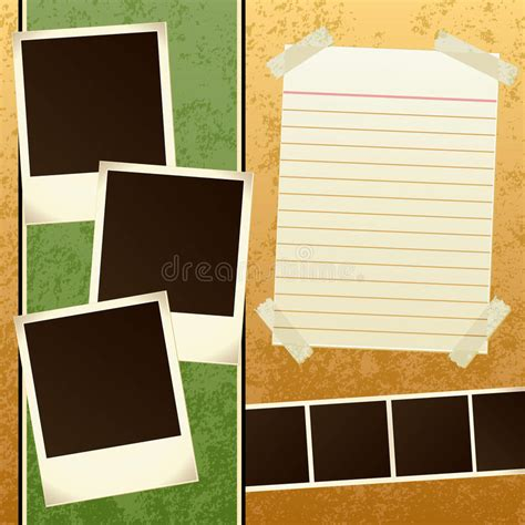 Scrapbook Template Stock Vector Illustration Of Photo 13847120 Scrapbook Free Templates