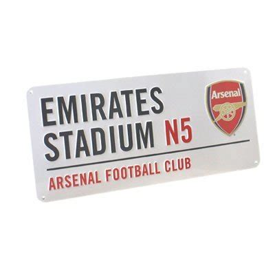 unstoppable arsenal metal books arsenal fc authentic epl metal sign import it all