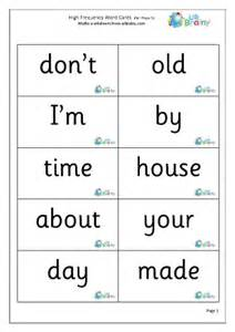 high frequency words 5 large english worksheet for key