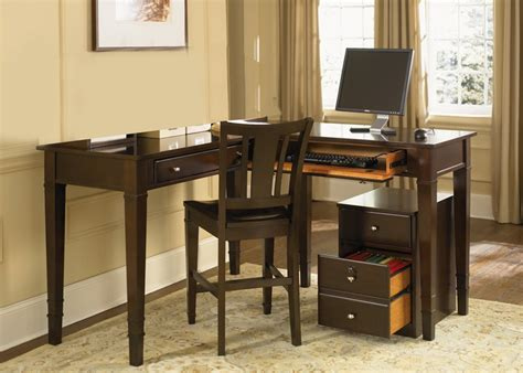 work regular counter height home office desk in merlot finish by liberty furniture 413 ho111