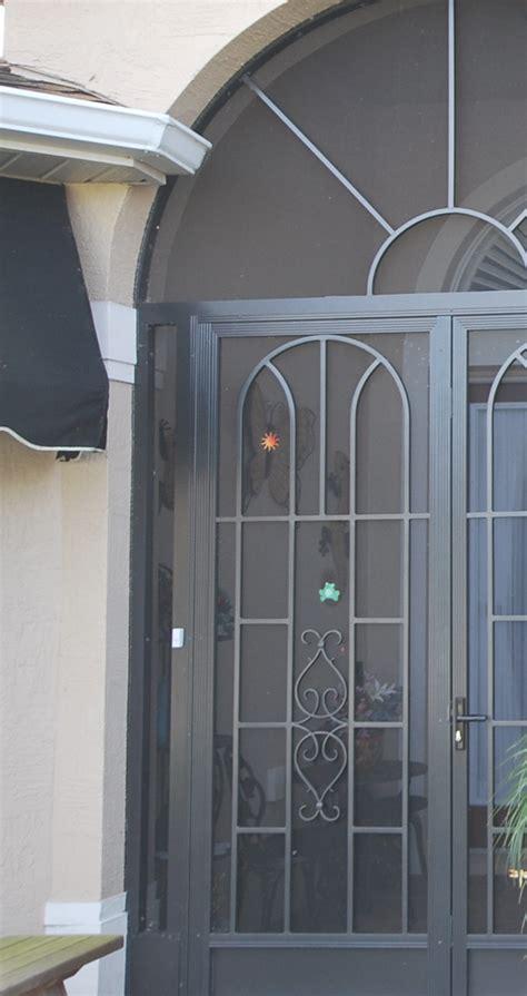 screened doors   secure  sealed