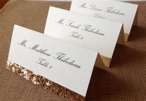 unique place cards gorgeous wedding place cards gold glitter place cards