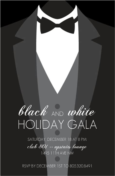 suit and tie card template suit up formal black tie invitation