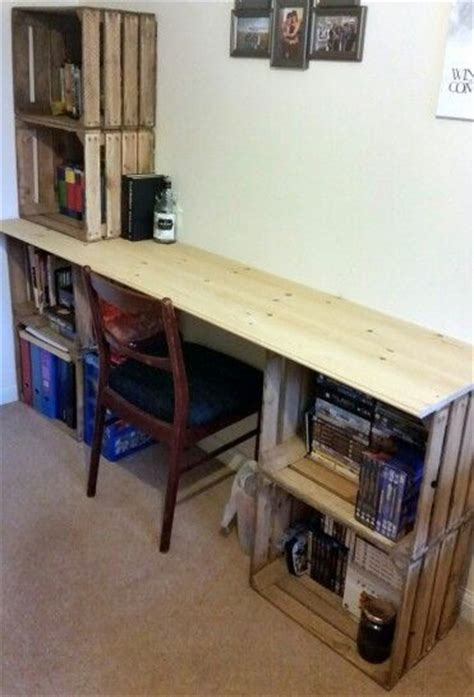 Cheap Diy Desk 25 Best Ideas About Crate Desk On Wooden Crates Cheap Cheap Office Desks And