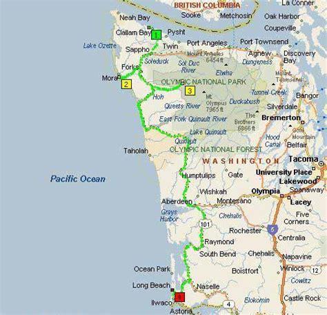 washington coast map washington map
