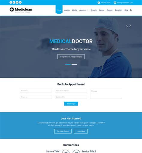 template wordpress gratis mediclean template gratis wordpress wordpress template