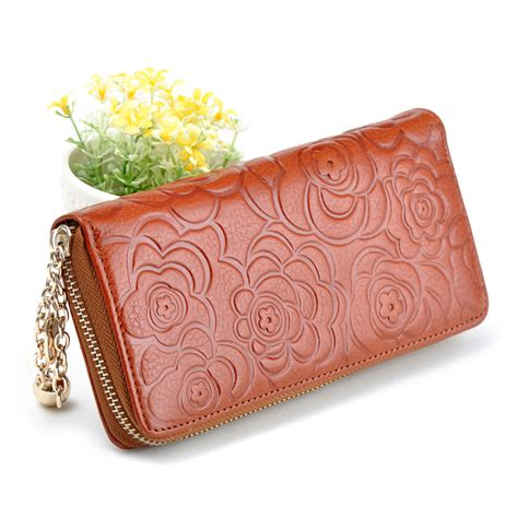 free pattern for zip around wallet aliexpress com buy new fashion genuine leather zip