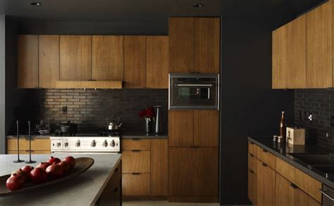 dark maple cabinets kitchen contemporary with backsplash black kitchen backsplash contemporary kitchen curated