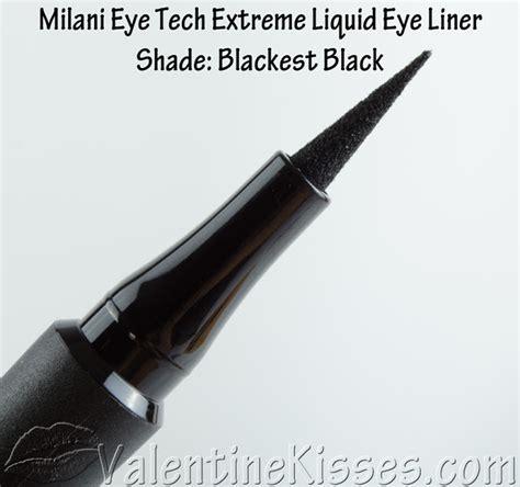 Eyeliner Milani Eye Tech Liquid Eye Liner Black Waterproof kisses milani eye tech liquid eye liner in blackest black swatches pics
