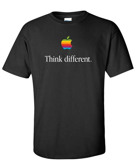 Tshirt Apple Think Different think different retro apple computer logo graphic t shirt