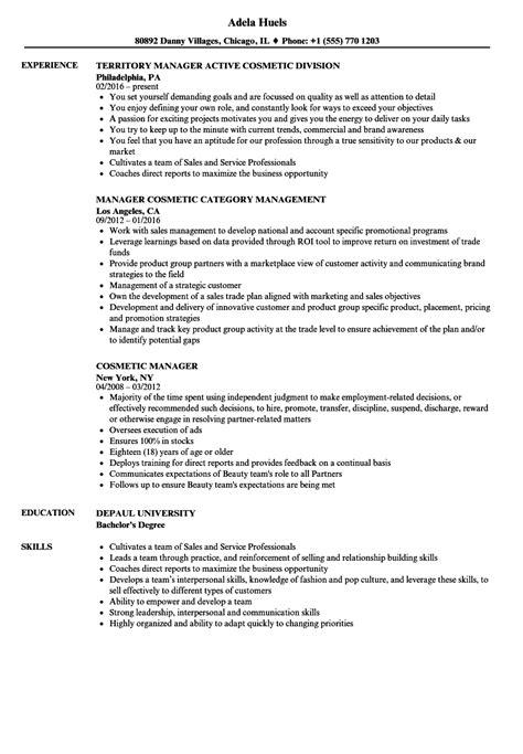 cosmetic resume exles resume ideas