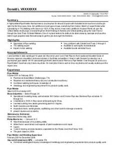 Sprinkler Installer Sle Resume by Journeymen Sprinkler Fitter Resume Exle Oliver
