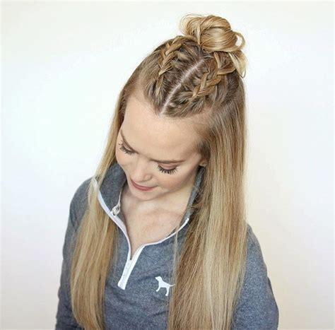 hairstyles half up half down with braids half up half down braids hair pinterest hair style