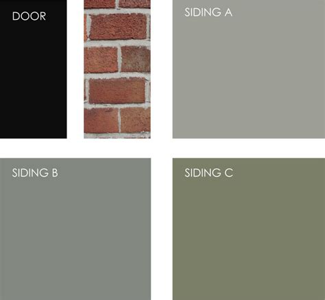 exle palette if you are working with brick siding try painting your front door black